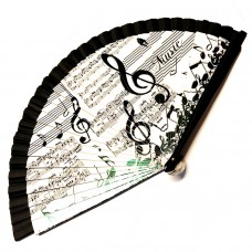 Fan with musical decoration