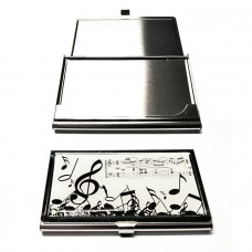 Card holder with musical decoration