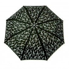 Black folding umbrella G-clef