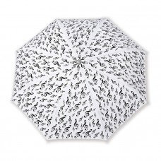 White folding umbrella G-clef