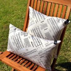 Rectangular Pillow with music decoration