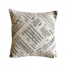 Pillow with music decoration
