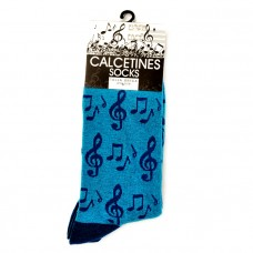 Blue Music Socks
