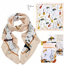 Scarf with music instruments decoration (big)