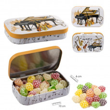 Fruit-flavored sweets, box instruments