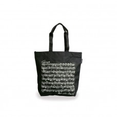 Black nylon Bach tote bag