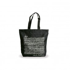 Black nylon Beethoven tote bag