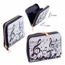 Small zip purse - Music
