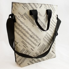 City bag music with zipper and crossbody
