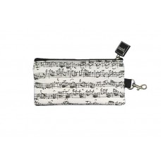 Pencil case white sheet music