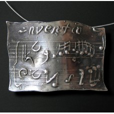 """Manuscrit de Bach"" necklace"