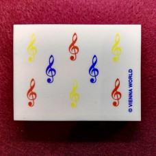 Coloured G-clefs Eraser