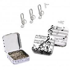 G-clef clips box (white)