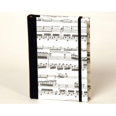 A7 notebook with elastic band