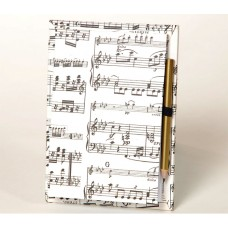 A7 notebook with pencil